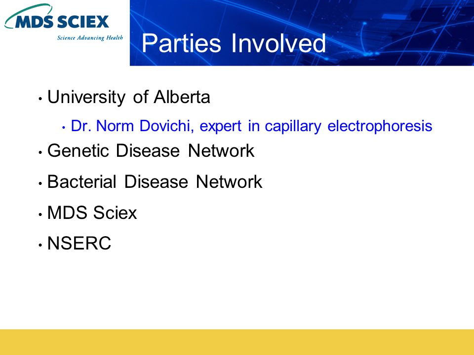 Parties Involved University of Alberta Dr.