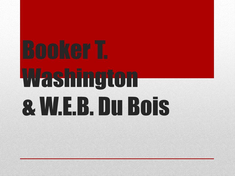 Booker T. Washington & W.E.B. Du Bois