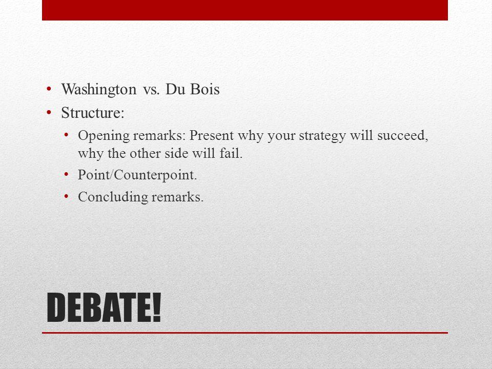 DEBATE. Washington vs.
