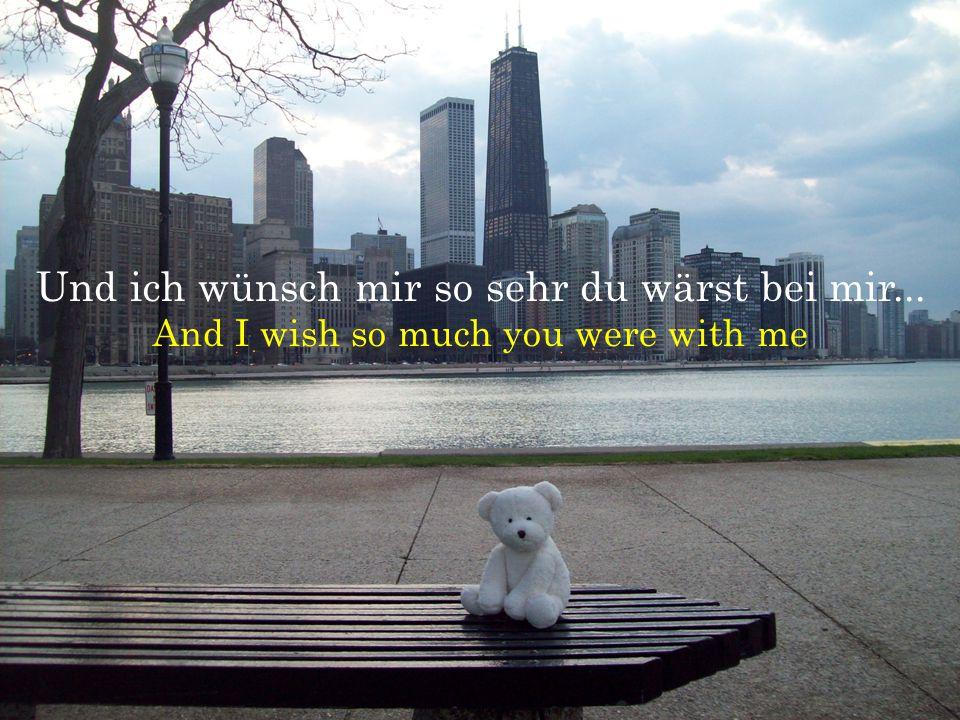 Und ich wünsch mir so sehr du wärst bei mir... And I wish so much you were with me