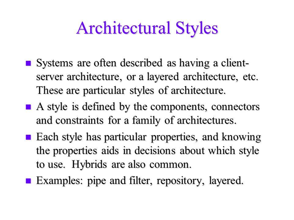 Object-Oriented Frameworks n Framework: architecture + implementation + hooks.