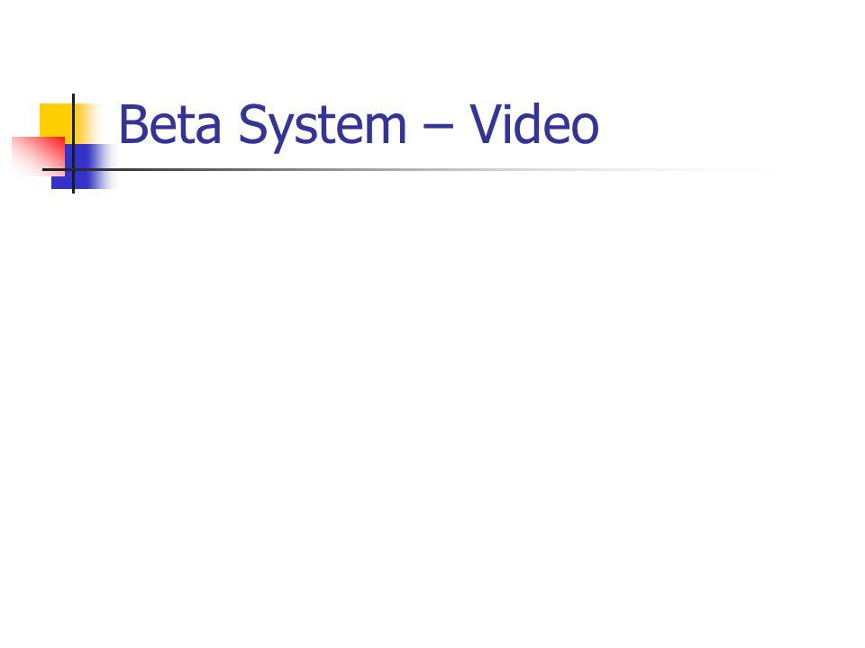 Beta System – Video