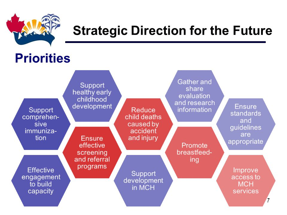 Strategic Direction for the Future 7 Priorities