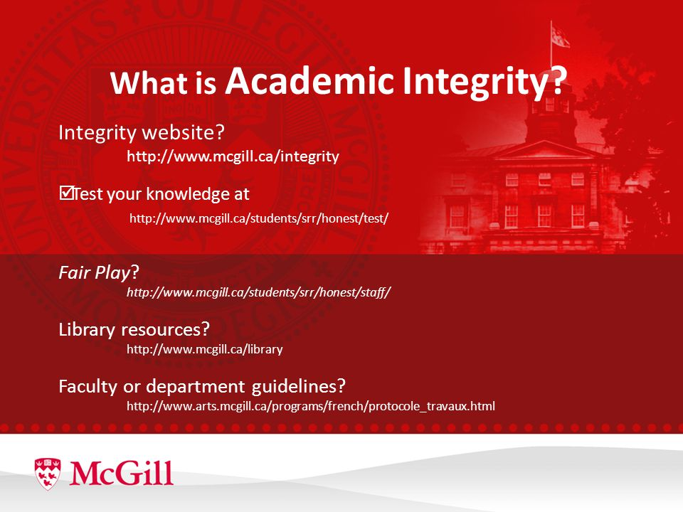 What is Academic Integrity. Integrity website.