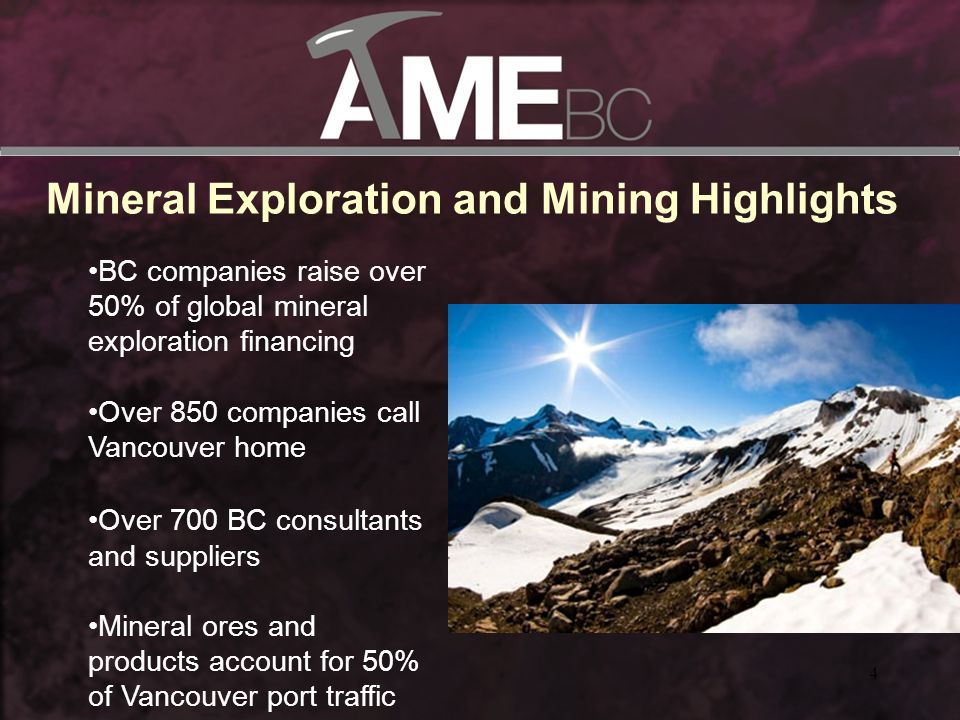 Health and Safety Initiatives Safety Guidelines for Mineral Exploration in Western Canada Annual Report in conjunction with PDAC Health and Safety Awards Exploration Field Safety Awareness Workshops Safety stickers and cards