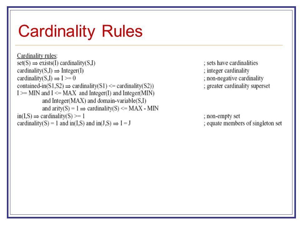 Cardinality Rules