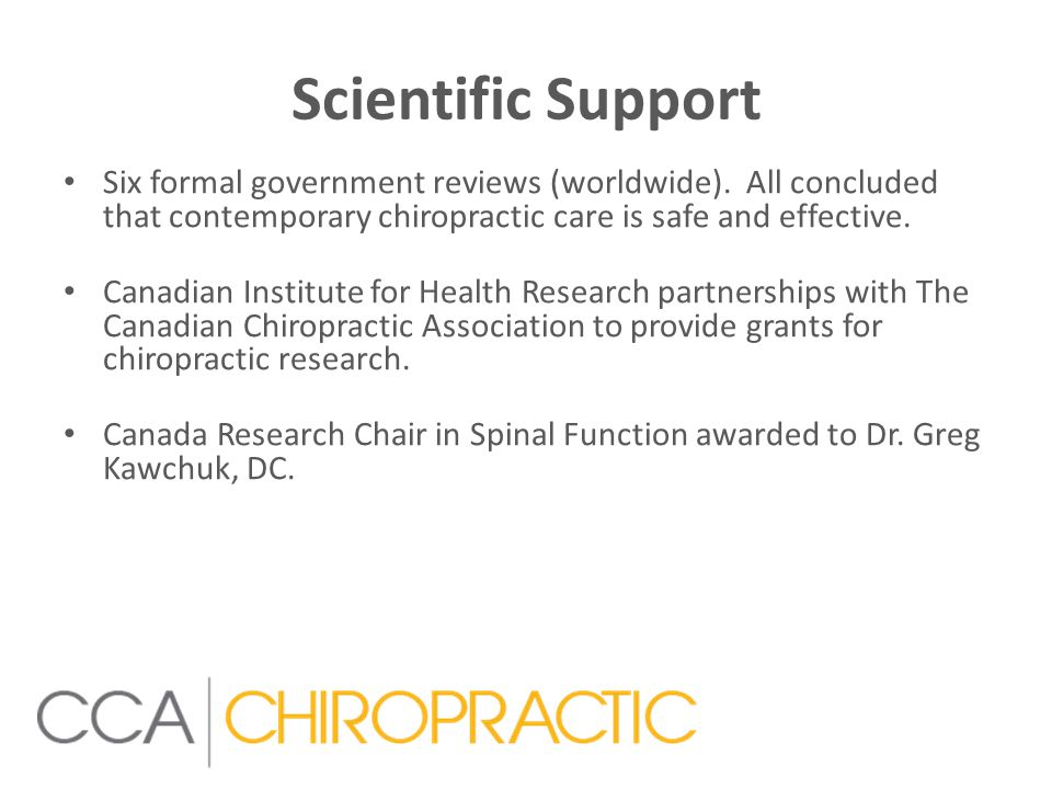 Scientific Support Six formal government reviews (worldwide).