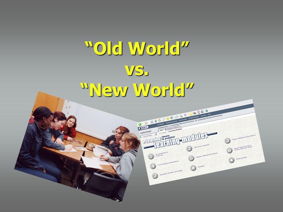 """Old World"" vs. ""New World"""