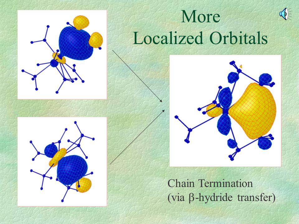 More Localized Orbitals Chain Termination (via  -hydride transfer)