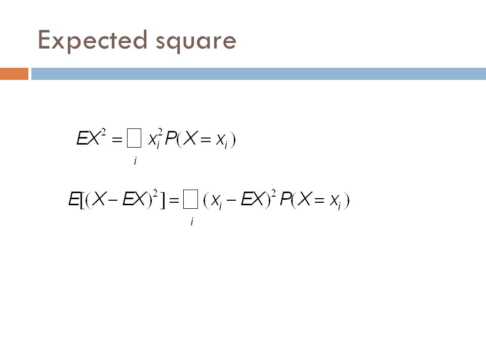 Expected square