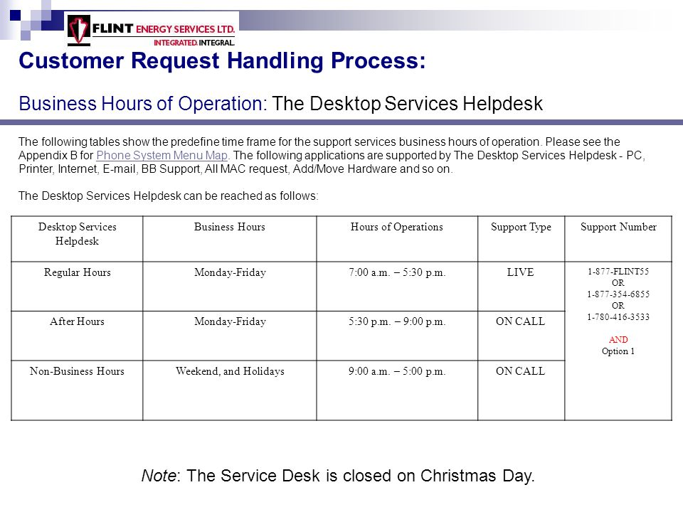 The JDE Support Services Helpdesk provides support to all systems/applications related to JDE application.
