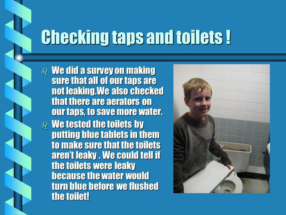 Checking taps and toilets .