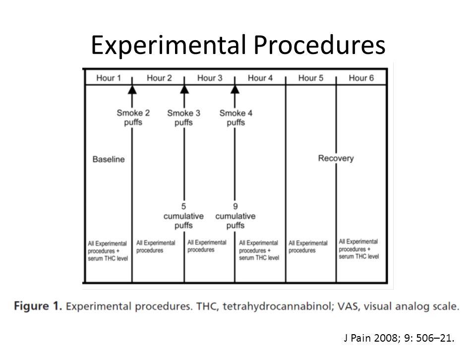 Experimental Procedures J Pain 2008; 9: 506–21.