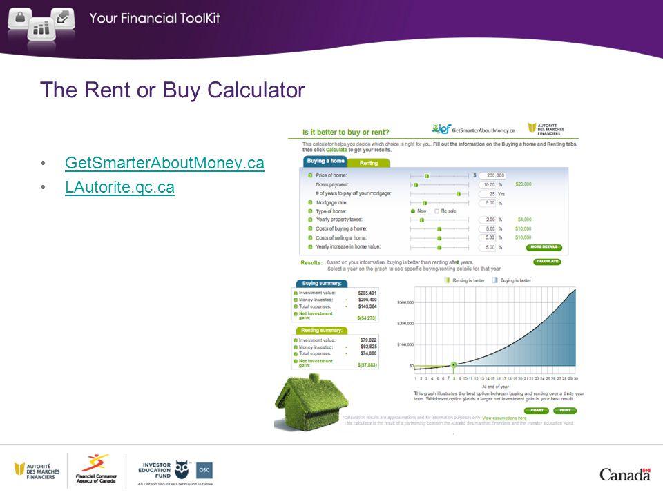 The Rent or Buy Calculator GetSmarterAboutMoney.ca LAutorite.qc.ca