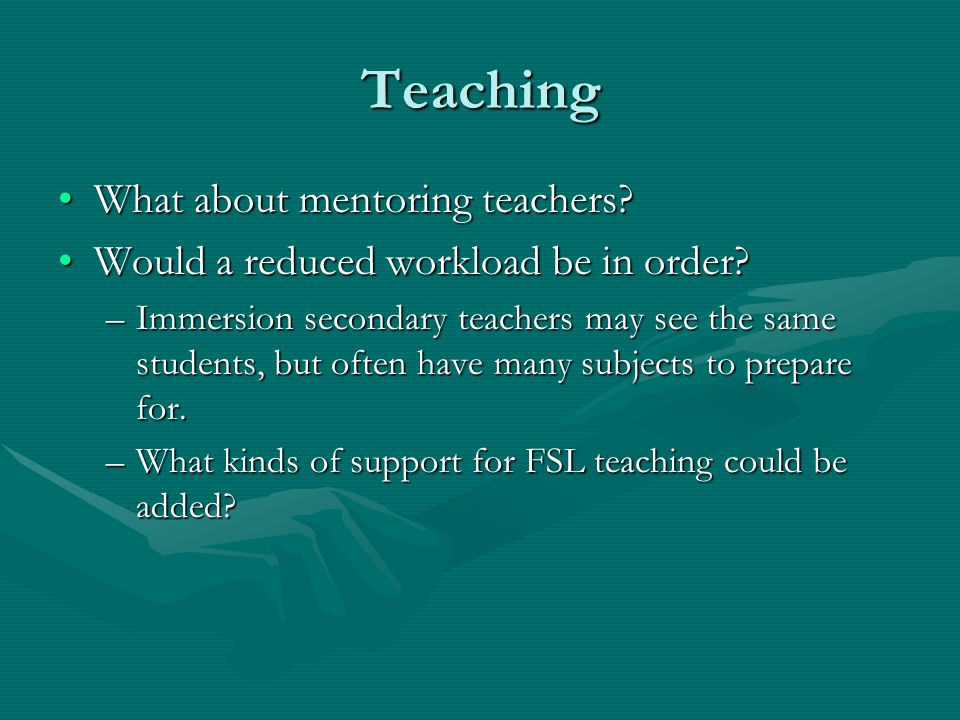 Teaching What about mentoring teachers What about mentoring teachers.
