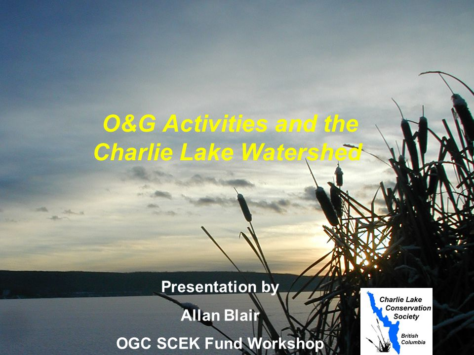 Agenda Charlie Lake Watershed What are the issues.