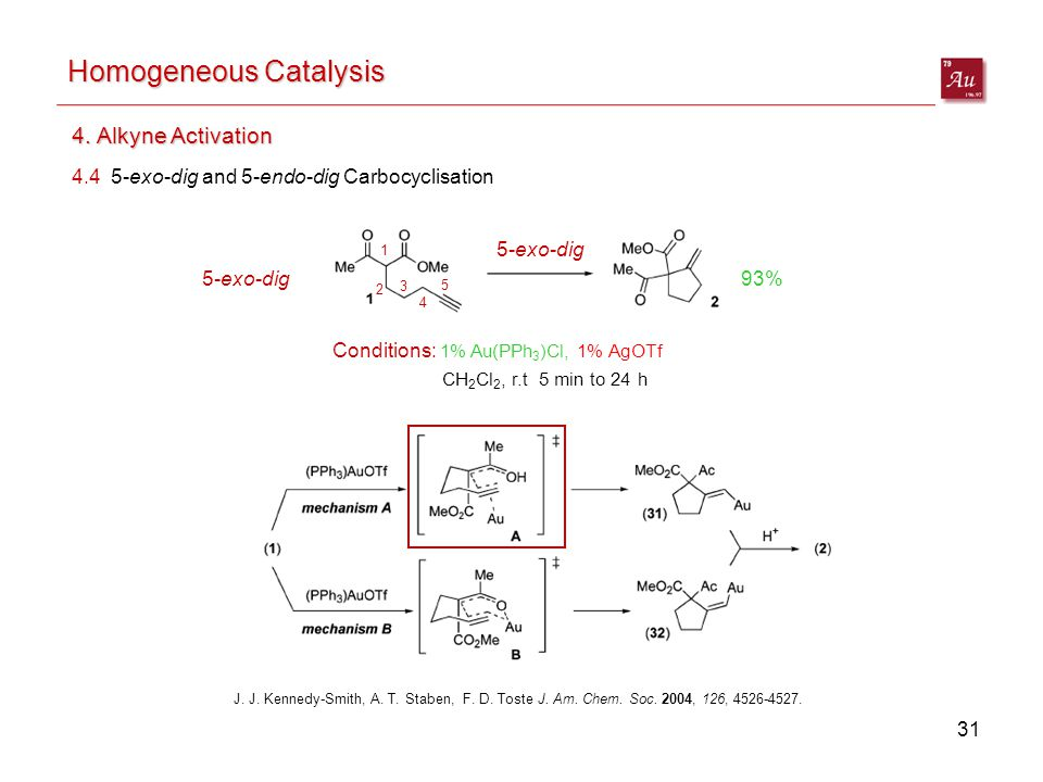 31 Homogeneous Catalysis 4.