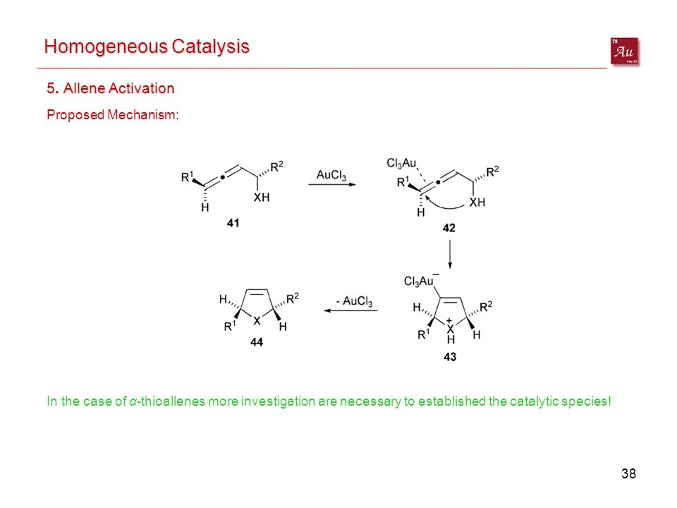 38 Homogeneous Catalysis 5.