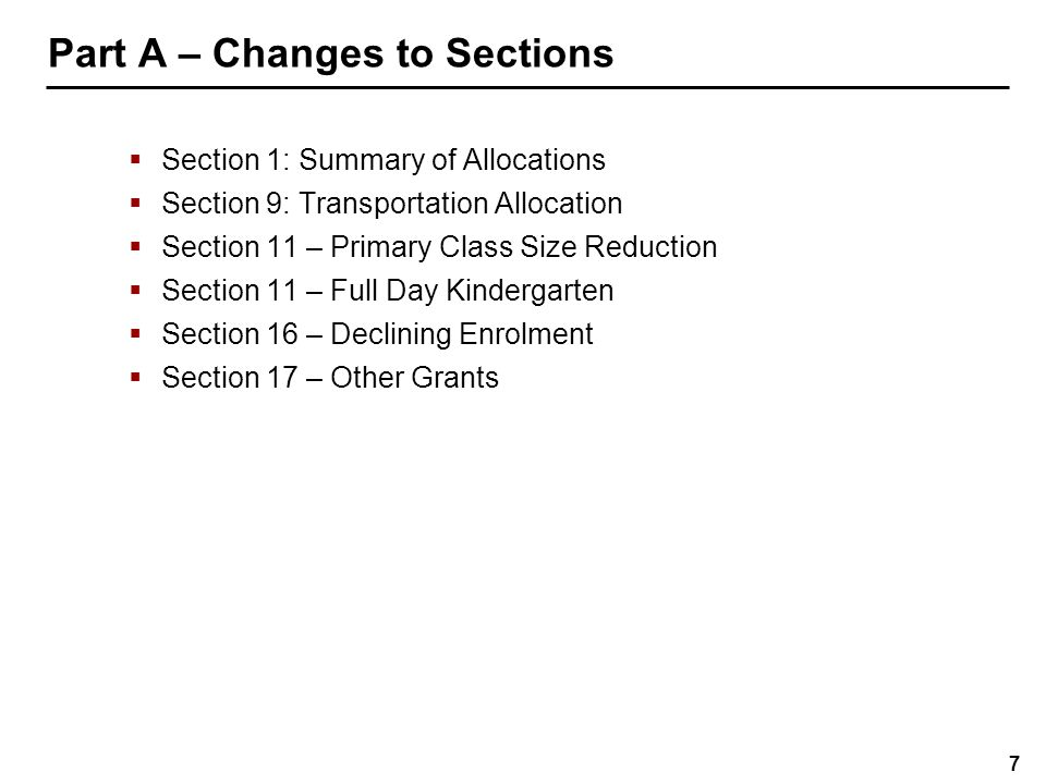 18 Part B – Changes to Schedules  Overview of accounting changes  Schedule 1: Consolidated Statement of Financial Position  Schedule 1.1: Consolidated Statement of Operations  Schedule 1.2: Consolidated Statement of Cash Flow  Schedule 1.3: Consolidated Statement of Change in Net Debt  Schedule 5: Detail of Accumulated Surplus/(Deficit)  Schedule 5.5: List of Committed Capital Projects Funded by Accumulated Surplus