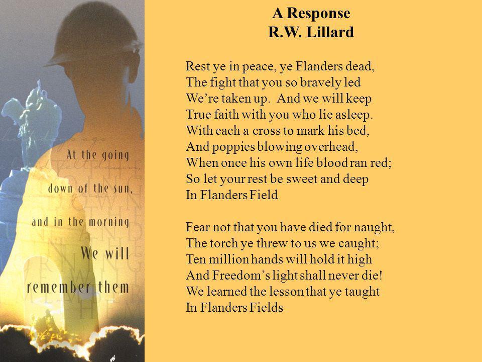 A Response R.W.