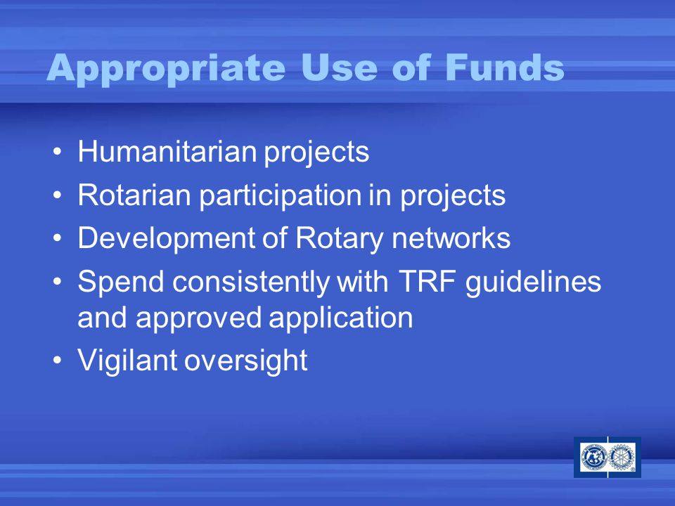 Construction/renovation Purchase of land or buildings Salaries of cooperating organization employees Cooperating organization expenses Post-secondary education International travel (except VSG & 3-H) Inappropriate Use of Funds