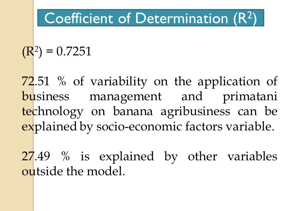 The influence of socio-economic factors of banana farmers simultaneously on the application of business management and primatani technology Y = 3,453