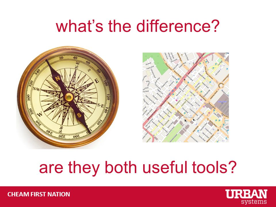 CHEAM FIRST NATION what's the difference are they both useful tools