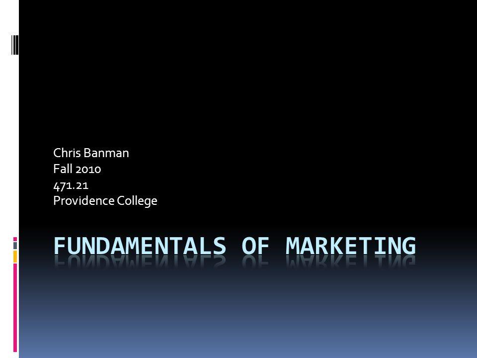 Chris Banman Fall 2010 471.21 Providence College
