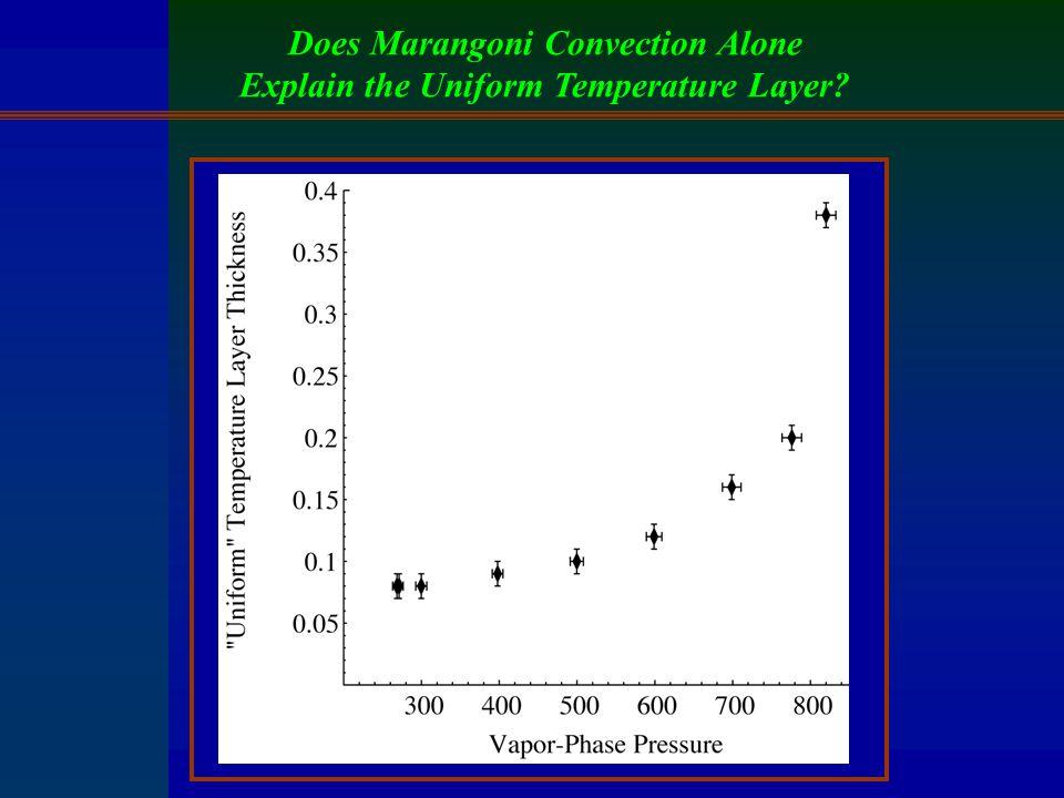 Does Marangoni Convection Alone Explain the Uniform Temperature Layer?