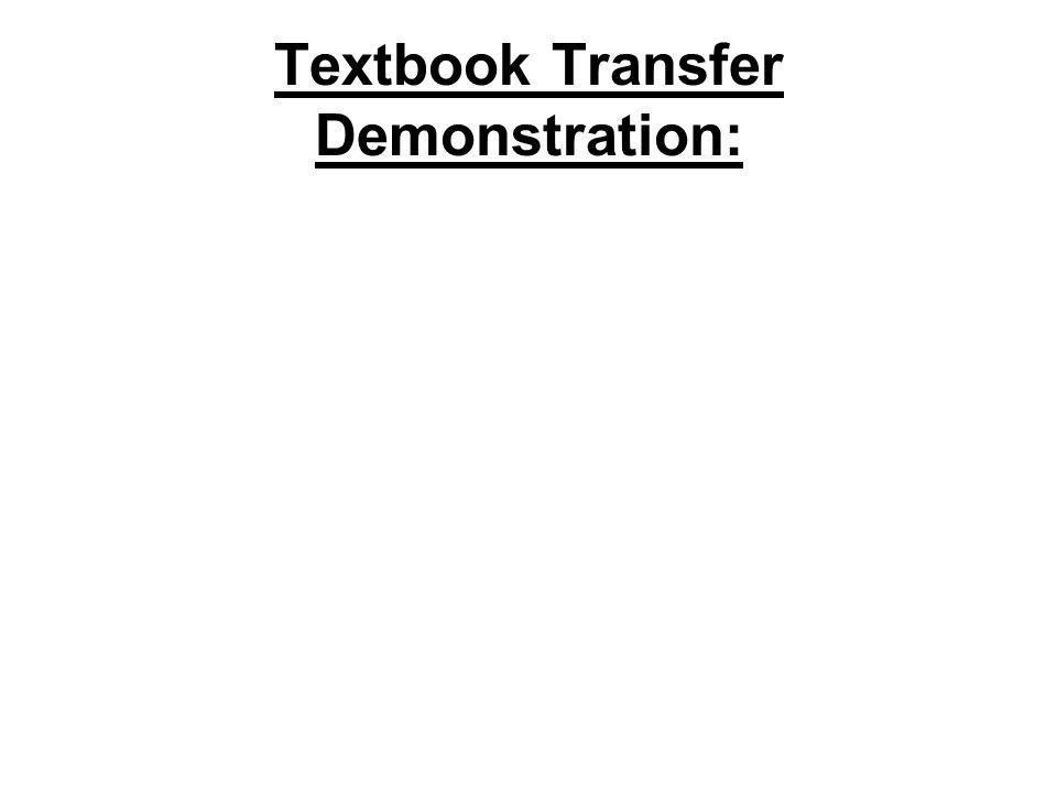 Textbook Transfer Demonstration: