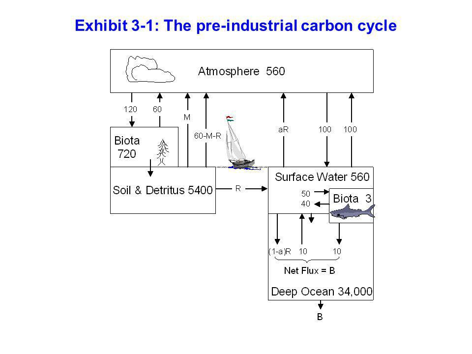 Exhibit 3-1: The pre-industrial carbon cycle