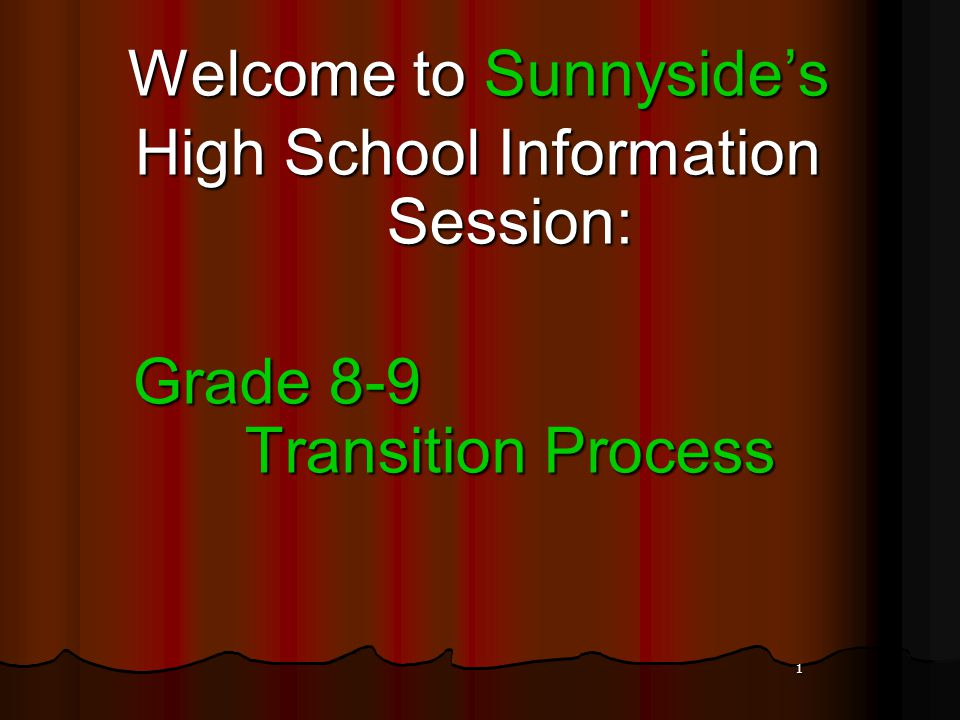 SAMPLE GR 9 STUDENT TIMETABLE SEMESTERED SCHOOL SEMESTER 1 SEPT.