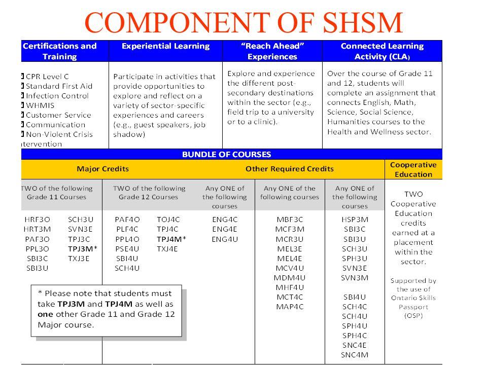 COMPONENT OF SHSM