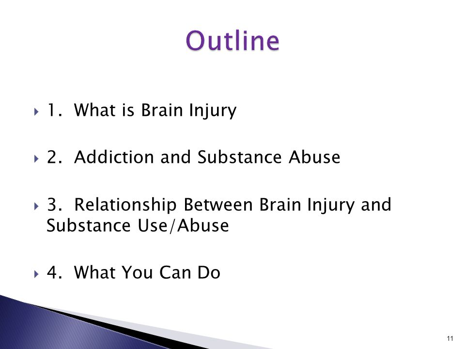  1. What is Brain Injury  2. Addiction and Substance Abuse  3.