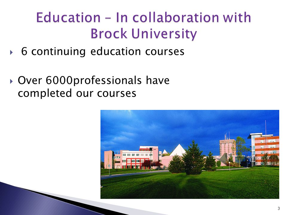  6 continuing education courses  Over 6000professionals have completed our courses 3