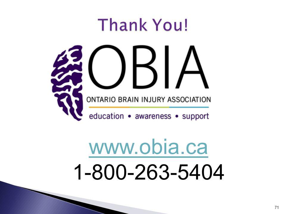 71 www.obia.ca 1-800-263-5404