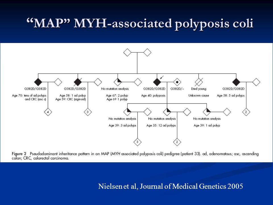 MAP MYH-associated polyposis coli Nielsen et al, Journal of Medical Genetics 2005