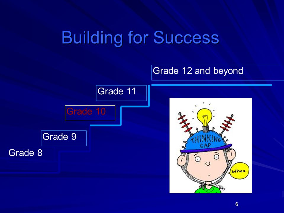 6 Building for Success Grade 8 Grade 10 Grade 11 Grade 12 and beyond Grade 9
