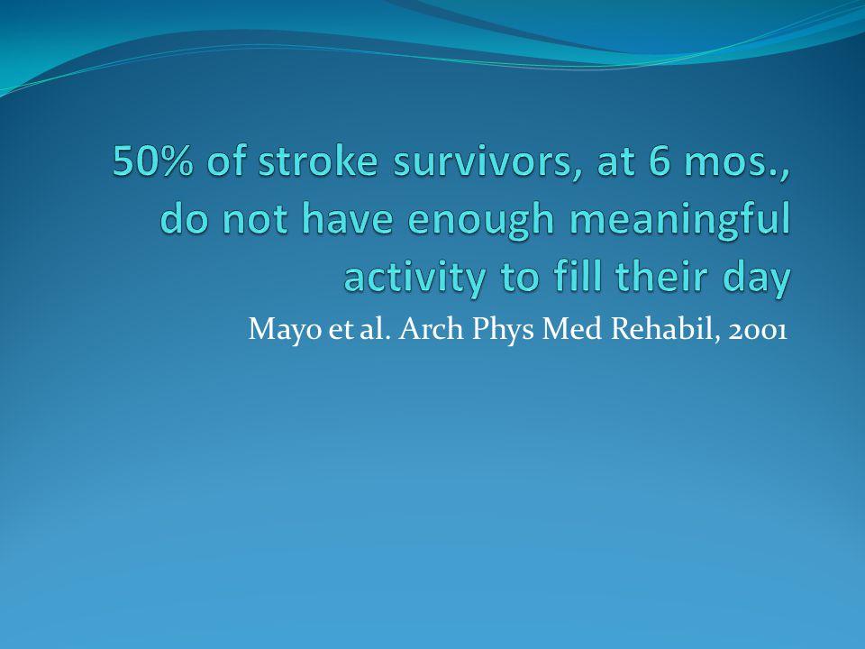 Mayo et al. Arch Phys Med Rehabil, 2001