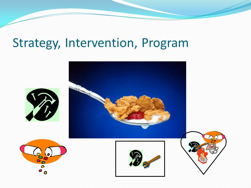 Strategy, Intervention, Program