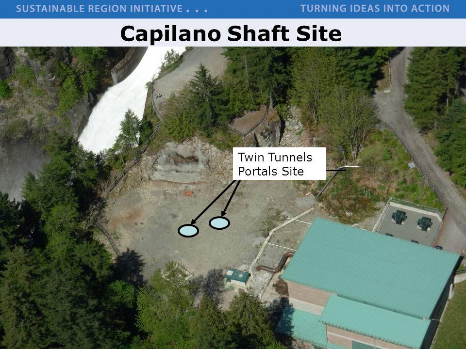 Capilano Shaft Site Twin Tunnels Portals Site