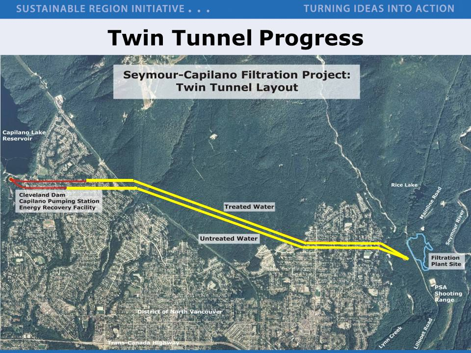 Twin Tunnels Treated Water Tunnel Untreated Water Tunnel