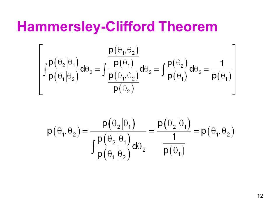 12 Hammersley-Clifford Theorem
