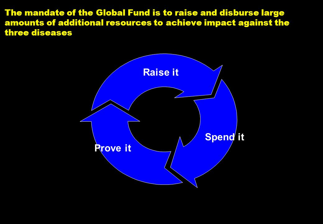 NY-070626.001/020419VtsimSL001 4 The mandate of the Global Fund is to raise and disburse large amounts of additional resources to achieve impact again