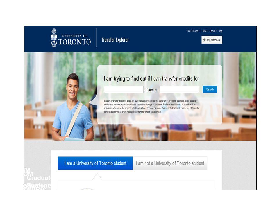 Can I transfer my credits FOM Graduate Students FOM Graduate Students Graduate Students