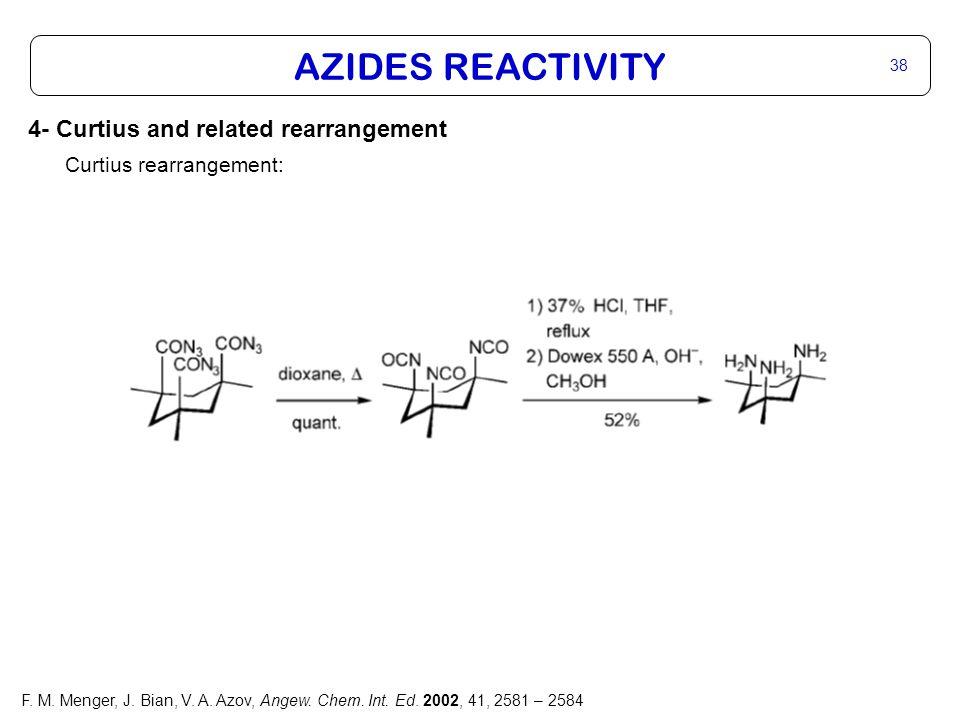 AZIDES REACTIVITY 38 F. M. Menger, J. Bian, V. A.