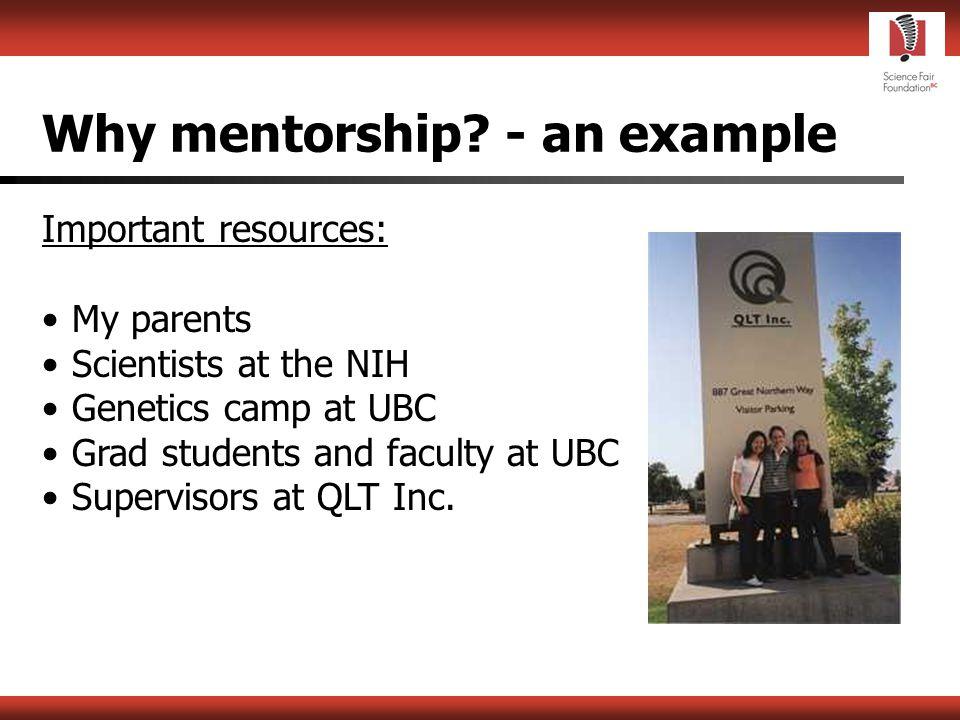Why mentorship.