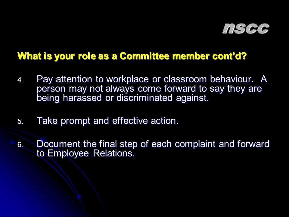 nscc nscc What is your role as a Committee member cont'd.