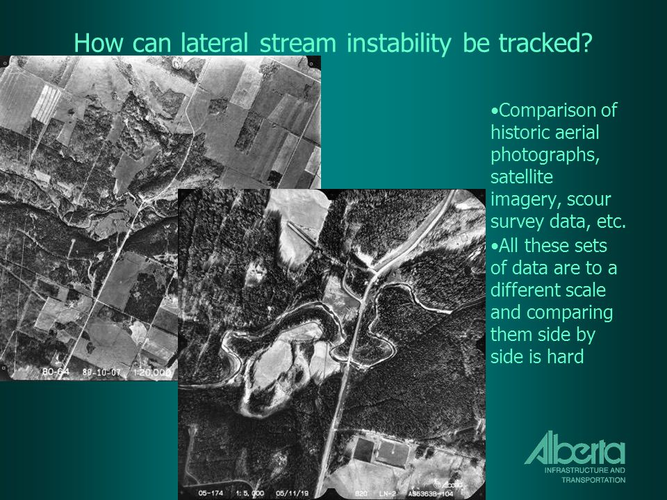 How can lateral stream instability be tracked.