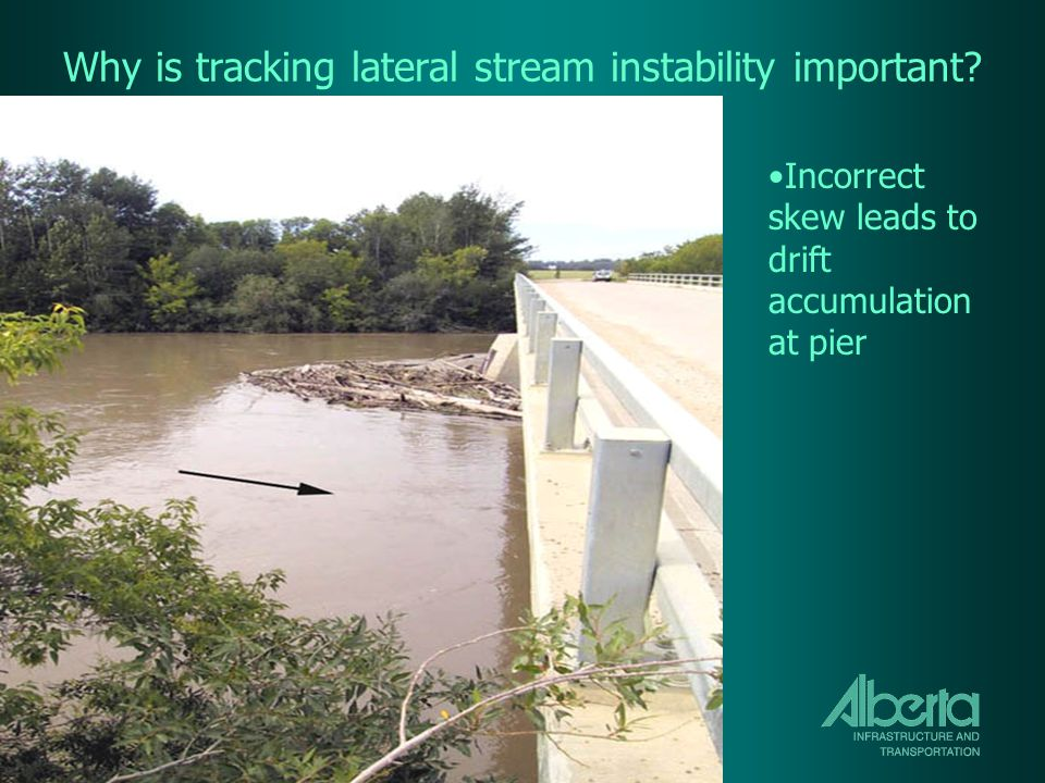 Why is tracking lateral stream instability important.